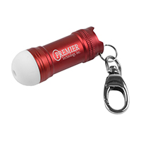 Mini Glowing Bubble Tip LED Aluminum Keychain Keylight with Lobster Clip
