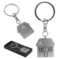 'The Cottage' Laser Engraved Metal Pull-Apart Keyholder