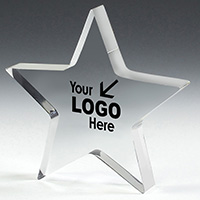 "PhotoImage® Star Paperweight - 5"" x 5"" x 1/2"""