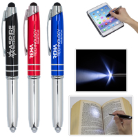 'The Pro' Pen with Stylus and 5 Lumen LED Light