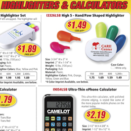 Highlighters & Calculators