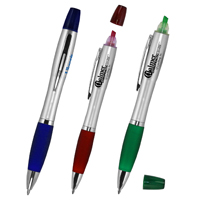 Pen with Matching Color Highlighter Combo