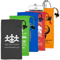 Spot Color Microfiber Drawstring Pouch for Cell Phones, Eyeglasses and other Accessories