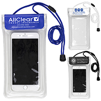 Clear Touch Through Floating Water Resistant Cell Phone and Accessories Pouch