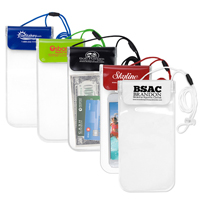 "Clear Touch Through Water-Resistant Cell Phone and Accessories Carrying Case with 35"" Adjustable Breakaway Lanyard"