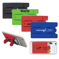 Two Function Soft Silicone Cell Phone Kickstand & Wallet