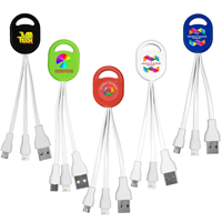 2-in-1 Charging Cable For Cell Phones and Tablets (Photoimage 4 Color)