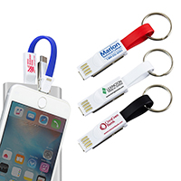 Keychain 3-in-1 Cell Phone Charging Cable with Type C Adapter