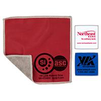 "6""x 6"" 2-in-1 Spot Color Microfiber Cleaning Cloth and Towel"