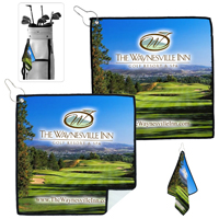 Full Color Process Suede Golf Towel