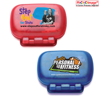 Single Function Step Counter Pedometer (w/Hinged Cover) (4 Color Process)