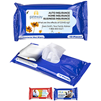 10 PC ANTIBACTERIAL WET WIPES