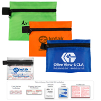 7 Piece Healthy Living Pack Components inserted into Zipper Pouch