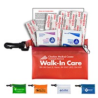 7 Piece Take-A-Long First Aid Kit in Translucent Vinyl Zipper Pouch