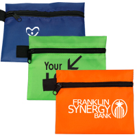 8 Piece Healthy Living Pack Components inserted into Zipper Pouch