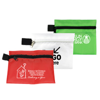 13 Piece Healthy Living Pack Components inserted into Zipper Pouch