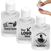 2 oz Hand Sanitizer Antibacterial Gel in Flip Top Squeeze Bottle (PhotoImage 4 Color)