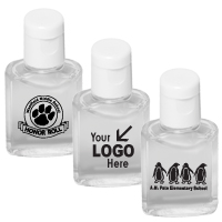 .5 oz Compact Hand Sanitizer Antibacterial Gel in Flip-Top Squeeze Bottle (Spot Color Print)