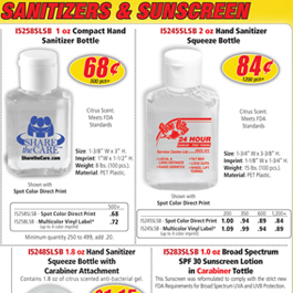 Sanitizers & Sunscreens