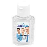 1 oz Compact Hand Sanitizer Antibacterial Gel in Flip-Top Squeeze Bottle (PhotoImage 4 Color)