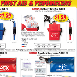 First Aid & Pedometers