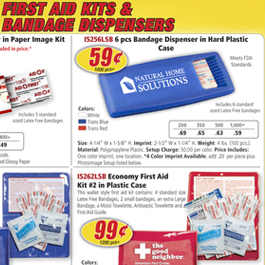 First Aid Kits & Bandage Dispensers