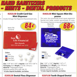 Hand Sanitizers - Mints - Dental Products