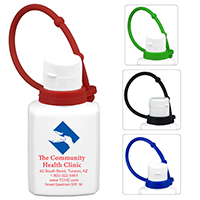 .5 oz Broad Spectrum SPF 30 Sunscreen Lotion In Solid White Flip-Top Squeeze Bottle with Colorful Silicone Leash(Spot Color)