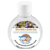 2 oz Compact Hand Sanitizer Antibacterial Gel in Round Flip-Top Squeeze Bottle