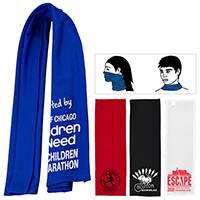 "Protective Face Covering - LARGE PLUSH Cooling Towel - 12"" x 36"" - Domestic Production"