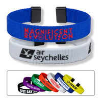 BrandBandTM Bracelet and Wrist Band with Silkscreen Logo and copy