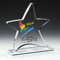 7581S (Screen Print), 7581L (Laser), 7581P (4Color Process) - Moving Star Award