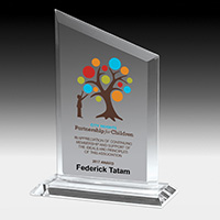 7603-2S (Screen Print), 7603-2L (Laser), 7603-2P (4Color Process) - Slim Line Acrylic Billboard Award