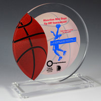 7619S (Screen Print), 7619L (Laser) - Basketball Achievement Award