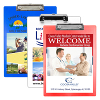 Letter Size Clipboard with 4 Color Process Imprint and Metal Clip Spring Clip (4 Color Process)