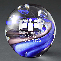 Orb Art Glass Award