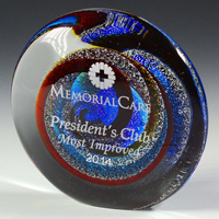 Corinth Art Glass Paper Weight Award