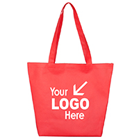 Gusseted Shopping, Grocery and Tote Bag with Hook and loop Fastener Closure