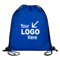 "13"" W x 16"" H - 80GSM Economy Drawstring Cinch Pack Backpack"