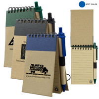 Recycled Jotter Notepad Notebook with Recycled Paper Pen