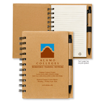 Larger Size Recycled Jotter Notepad Notebook with Recycled Paper Pen