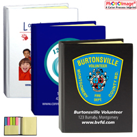 PhotoImage ® Full Color Imprint* Full Size Sticky Notes and Flags Notepad Notebook