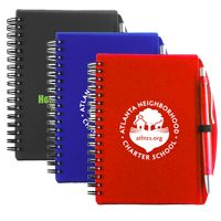 'Carmel' Jotter Notepad Notebook with Pen