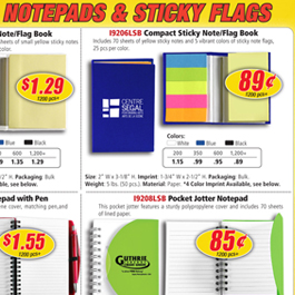 Notebooks & Sticky Flags