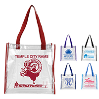 Clear Vinyl Stadium Compliant Tote Bag (Stadium Compliant)