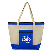 Oversized Beach & Travel Zippered Boat Tote Bag