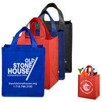 Large Imprint Smooth Front Super Grocery Shopping Tote Bag