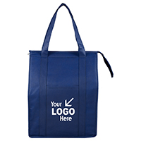 "12"" W x 16"" H x 10"" G - Large Insulated Zipper 'Super Cooler' Tote Bag"