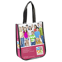 Small Non-Woven Full Color Laminated Wrap Carry All Tote and Shopping Bag