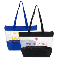 "16"" W x 12"" H x 4"" Gusset - 'Vista' Clear Zipper Vinyl Tote Bag"